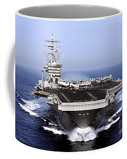The Aircraft Carrier Uss Dwight D Coffee Mug