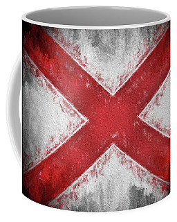 Coffee Mug featuring the digital art The Alabama Flag by JC Findley