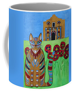 the Alamo Cat Coffee Mug