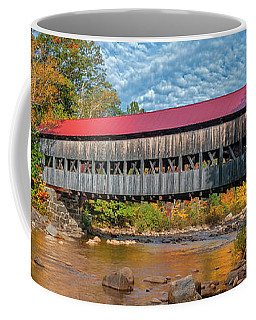 Coffee Mug featuring the photograph The Albany Bridge - Kancamagus Highway by Expressive Landscapes Fine Art Photography by Thom