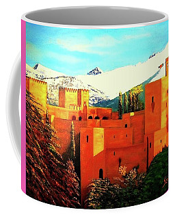 The Alhambra Of Granada Coffee Mug by Manuel Sanchez