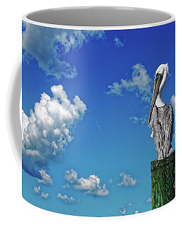 Coffee Mug featuring the photograph The American Brown Pelican by Paul Mashburn