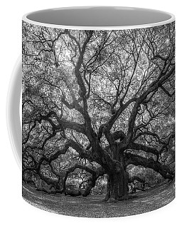 The Angel Oak Tree Bw  Coffee Mug