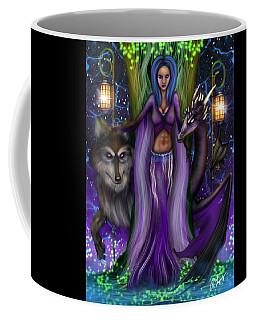 The Animal Goddess Fantasy Art Coffee Mug