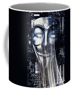 The Anonymous Eyes Of Civil Unrest Coffee Mug