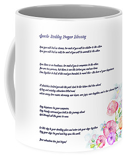 Coffee Mug featuring the drawing The Apache Wedding Blessing - Long Version by Celestial Images