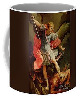 The Archangel Michael Defeating Satan Coffee Mug