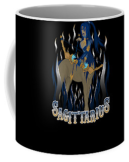 Coffee Mug featuring the drawing The Archer - Sagittarius Spirit by Raphael Lopez