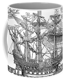 The Ark Raleigh, The Flagship Of The English Fleet Coffee Mug