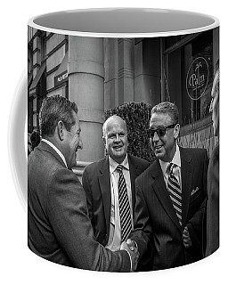 Coffee Mug featuring the photograph The Art Of The Deal by David Sutton