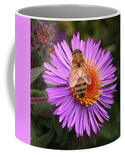 The Aster And The Bee Coffee Mug by Laurel Talabere