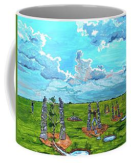 Coffee Mug featuring the painting The Balance Of Sorrows by Lazaro Hurtado