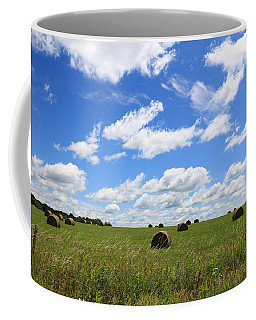 Coffee Mug featuring the photograph The Bales Of Summer 3 by Rick Morgan