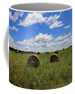 Coffee Mug featuring the photograph The Bales Of Summer by Rick Morgan