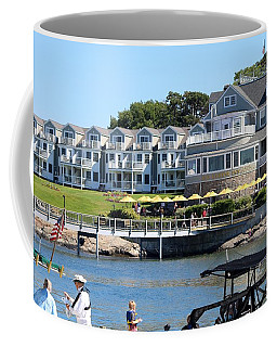 Coffee Mug featuring the photograph The Bar Harbor Inn by Living Color Photography Lorraine Lynch