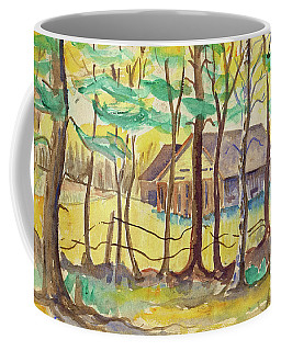 Coffee Mug featuring the painting The Barn by Art MacKay
