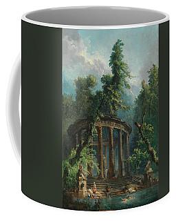 Coffee Mug featuring the painting The Bathing Pool by Hubert Robert
