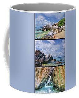 The Baths Virgin Gorda National Park Triptych Coffee Mug