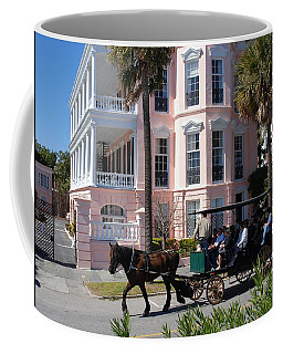 Coffee Mug featuring the photograph The Battery In Charleston by Susanne Van Hulst