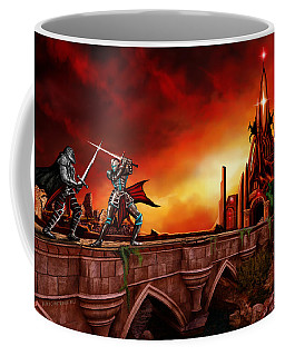 Coffee Mug featuring the painting The Battle For The Crystal Castle by James Christopher Hill