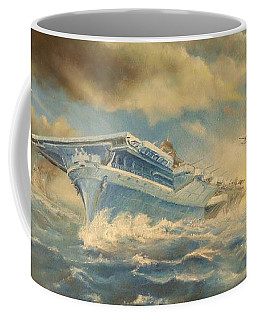 Coffee Mug featuring the painting The Battle by Sorin Apostolescu