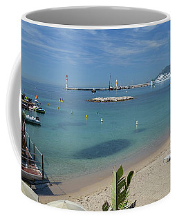 The Beach At Cannes Coffee Mug