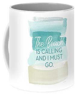 The Beach Is Calling- Art By Linda Woods Coffee Mug