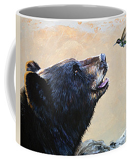 The Bear And The Hummingbird Coffee Mug