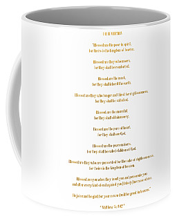 The Beatitudes Gospel Of Matthew Coffee Mug