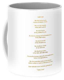 Coffee Mug featuring the digital art The Beatitudes Gospel Of Matthew by Rose Santuci-Sofranko