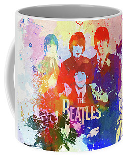 The Beatles Paint Splatter  Coffee Mug