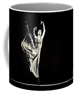 Coffee Mug featuring the photograph The Beautiful Ballerina Dancing In Long Dress by Dimitar Hristov