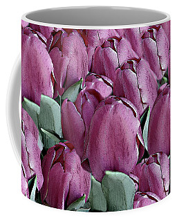 The Beauty And Depth Of A Bed Of Tulips Coffee Mug