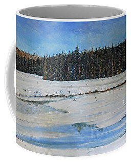 The Beaver Pond In Winter Coffee Mug