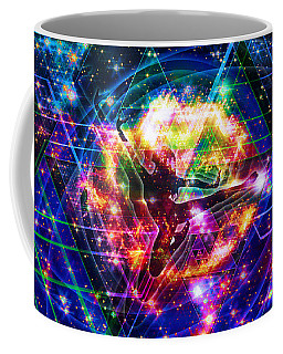 Coffee Mug featuring the digital art The Beholder by Kenneth Armand Johnson