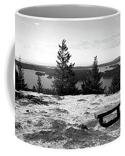 Coffee Mug featuring the photograph The Bench Atop Turtleback by Lorraine Devon Wilke