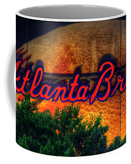 The Big Ball Atlanta Braves Baseball Signage Art Coffee Mug