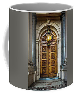 Coffee Mug featuring the photograph The Big Doors by Perry Webster