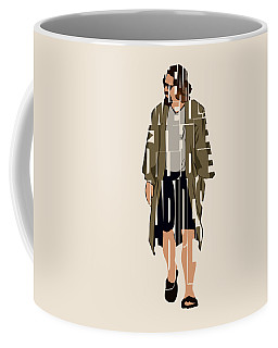 The Big Lebowski Inspired The Dude Typography Artwork Coffee Mug