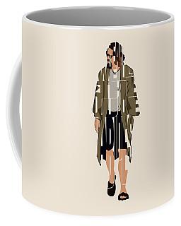 The Big Lebowski Inspired The Dude Typography Artwork Coffee Mug