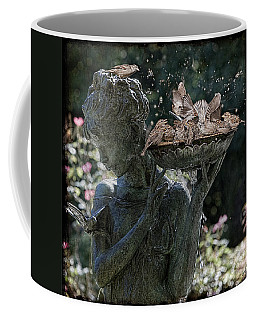 Coffee Mug featuring the photograph The Bird Bath by Chris Lord