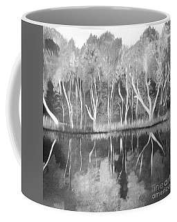 The Black And White Autumn Coffee Mug by Art Ina Pavelescu