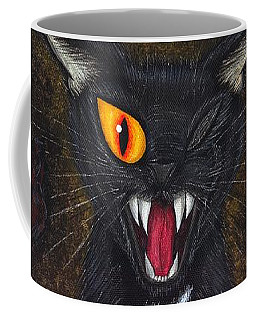 The Black Cat Edgar Allan Poe Coffee Mug