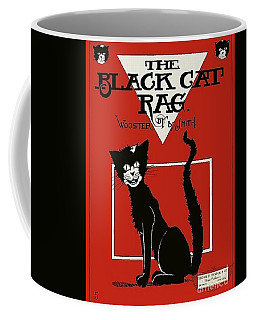 The Black Cat Rag 1905 Sheet Music Art Coffee Mug by Peter Gumaer Ogden Collection