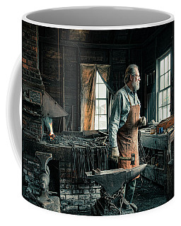Coffee Mug featuring the photograph The Blacksmith - Smith by Gary Heller