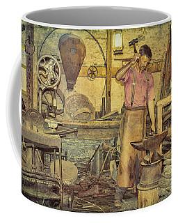 The Blacksmith's Forge Coffee Mug by Elaine Teague