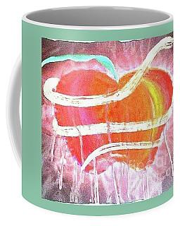 The Bleeding Heart Of The Illuminated Forbidden Fruit Coffee Mug by Talisa Hartley