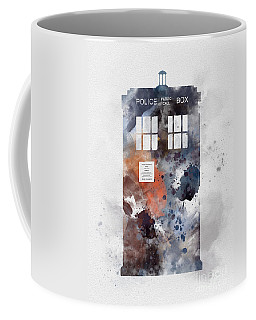 The Blue Box Coffee Mug by Rebecca Jenkins