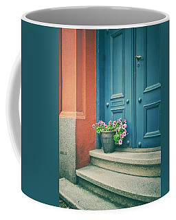 The Blue Door Coffee Mug by Karen Stahlros