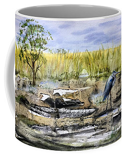 The Blue Egret Coffee Mug